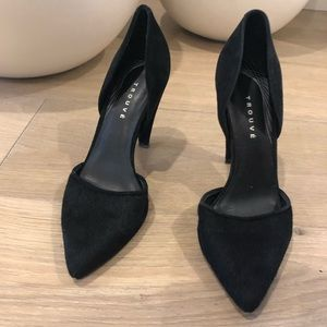 Black Pony-hair Heels by Trouve (Size 6M)